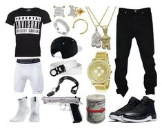 A menswear look from December 2016 featuring mens t shirts, men's regular fit jeans and mens gold watches. Browse and shop related looks. Dope Outfits For Guys, Swag Outfits Men, Stylish Mens Outfits, Nike Outfits, Simple Outfits, Look Hip Hop, Teenage Boy Fashion, Tomboy Fashion, Guy Fashion