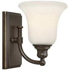"Hinkley Colette 8 1/4"" High Oil-Rubbed Bronze Wall Sconce - #5V752 