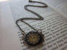 The Loretta Necklace - Vintage OOAK Watch Steampunk Angel Wing Necklace. $32.00, via Etsy.