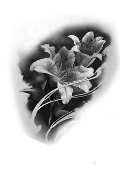 Tricep brazo derecho Lily Tattoo Design, Floral Tattoo Design, Flower Tattoo Designs, Rose Drawing Tattoo, Tattoo Sketches, Lily Flower Tattoos, Rose Tattoos, Lirio Tattoo, Flor Tattoo