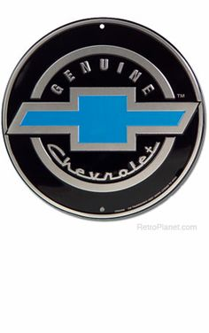image of Chevrolet Emblem Round Metal Sign