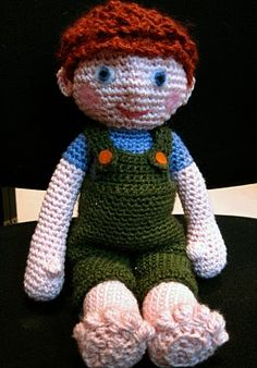 . #amigurumi doll based in Benny the monkey pattern - http://www.ravelry.com/projects/Abby-Sophia/benny-the-monkey