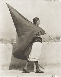 Tina Modotti, (Communist, Feminist and Italian ex-pat Intellectual) Woman with Flag