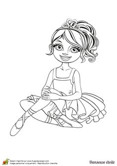 Les 61 meilleures images de coloriages de danse coloring pages nice designs et colouring pages - Coloriage de danseuse ...