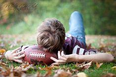 Football Senior Picture Poses | senior boy pose with football