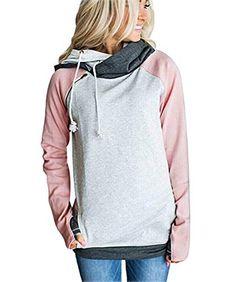 Femmes Sweats /à capuche Manche Longue Zipp/é Sweats Casual Sport Rayures Outdoor /à Capuche