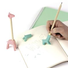 We love these fun Manta Pink Giraffe Erasers | AlexandAlexa