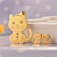 Conjunto de Joyas Acero Dorado de Animal -SSSTG107-5307