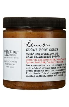 lemon sugar body scrub / c.o. bigelow