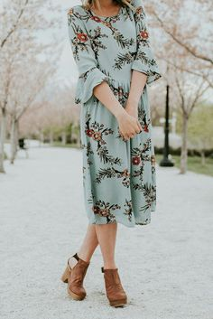 Vantage floral midi Dress