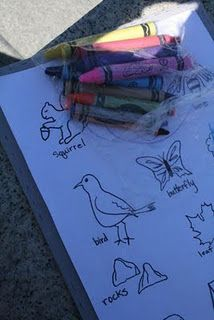 Outdoor scavenger hunt....could do many different kinds of scavenger hunts:reading, indoors, just Pinterest search it