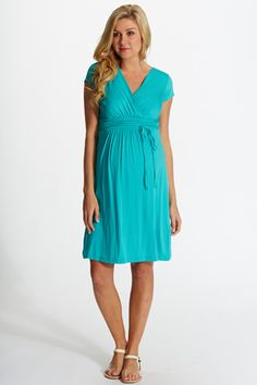 Jade Draped Maternity/Nursing Dress