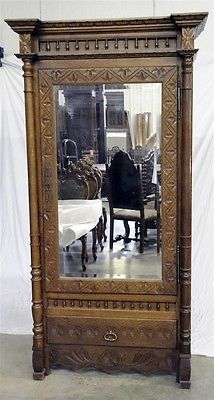 French Breton Armoire With Nice Carvings | EBay