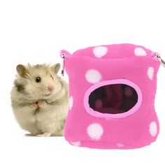 Home & Garden Cages Lovely Warm Hamster Hanging House Hammock Cage Pet Rat Birds Swing Sleep Nest Bed To Adopt Advanced Technology