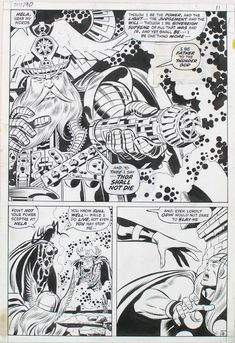Diversions of the Groovy Kind: Black and White Wednesday: John Buscema Original Art Make A Comic Book, Comic Book Pages, Comic Book Artists, Comic Artist, Comic Books, Sal Buscema, John Buscema, Comic Frame, American Comics