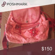 Pink Coach backpack Small pink backpack, good condition. Coach Bags Backpacks
