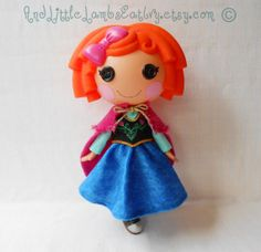 Lalaloopsy Clothes  Anna  Frozen  Princess by AndLittleLambsEatIvy, $30.00