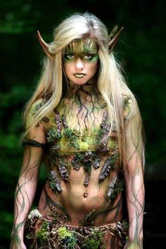 New makeup ideas fairy wood nymphs Ideas Wood Nymphs, Elfa, Fantasias Halloween, Maquillage Halloween, Fantasy Costumes, Halloween Disfraces, Fantasy Makeup, Fantasy Hair, Costume Makeup