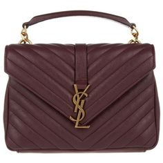 Saint Laurent YSL Monogramme MD College Bag Bordeaux in rot Md College, College Bags, Bordeaux, Saint Laurent Tasche, Ysl Bag, Leather Shoulder Bag, Shoulder Bags, Red Handbag, Mini Purse