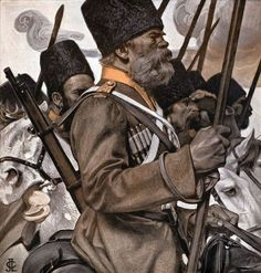 J.C.Leyendecker- Russian Cossacks marching to the front