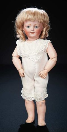 All-Original Petite German Bisque Smiling Character, 185, by Kestner 1800/2500 Auctions Online | Proxibid