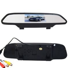 Car Styling Wireless 4.3 inch Car Rear View Mirror Car Monitor Display for Rear view Reverse Backup Camera Car TV Display