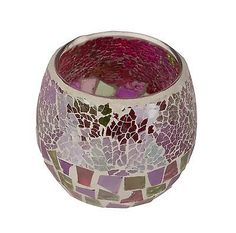 Woodwick #accessories celebration pink glass #mosaic tea light #candle holder,  View more on the LINK: http://www.zeppy.io/product/gb/2/311600831290/