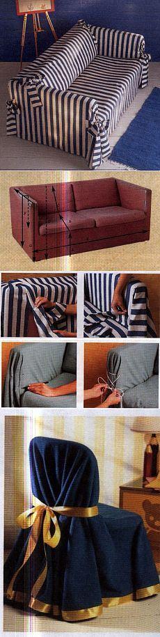 Как сшить чехол на диван   WomaNew.ru - уроки кройки и шитья.