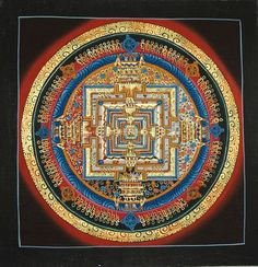 Hand Painted Kalachakra Mandala Thangka Paintings from Nepal-Non Profit