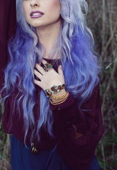 ombre lilac hair