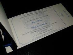 Cheque book Wedding invitation inside