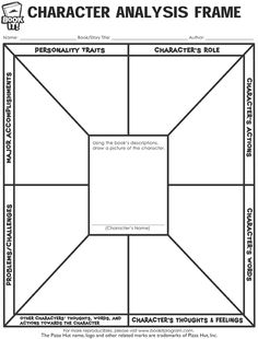 Explore your favorite characters on a deeper level with this fun, free, easy-to-use BOOK IT! Program reproducible! Find this and more at www.bookitprogram.com/teachers/printables #free #printables #Character #Analysis