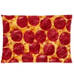 Food Pillow Case - Best Cool Pizza Rectangle Pillowcase 20x30 inch One Side Pillow Covers
