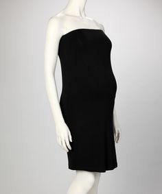 Brody & Cole Black Maternity Strapless Dress