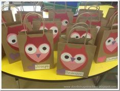 Valentine Crafts for 1st Graders   And owl patterns to make these super cute owls! They are a hoot!