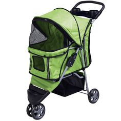 Superbuy Pet Stroller Cat Dog 3 Wheels Stroller Travel Folding Carrier (Green) >>> For more information, visit now (This is an amazon affiliate link. I may earn commission from it)