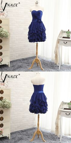 Vnaix B3078 Short A Line Blue Puffly Bridesmaid Dresses With Flower Belt Sexy Off The Shoulder Dresses Plus Size
