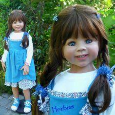 Masterpiece-Dolls-Leandra-Blue-Corduroy-Dress-Leggins-amp-Tennis-Shoes