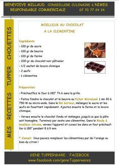 Moelleux au chocolat à la clémentines - Tupperware