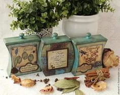 caja decoradas cocina