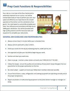 restaurant training manual templates