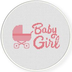 Charts Club Members Only: Baby Girl Cross Stitch Pattern Xmas Cross Stitch, Cross Stitch Cards, Cross Stitch Rose, Cross Stitch Baby, Cross Stitch Flowers, Cross Stitching, Cross Stitch Embroidery, Cross Stich Patterns Free, Cross Stitch Geometric