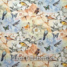 """Birds & Butterflies Print 20x20"""" Pillow Case by SelemeHealth"""