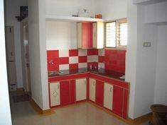 cocina roja forma ele