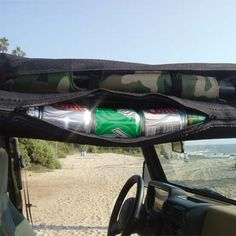 Wholly unnecessary, silly, and awesome Jeep accessory: Vertically Driven Products Part 5078115 - The Six (6) Pack Can Cooler and Storage Tube