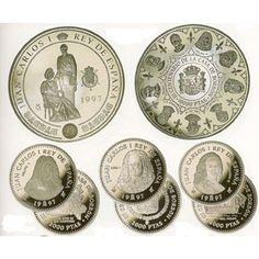 III Centenario Casa de Borbón 1997 Serie I. 4 monedas. Plata. Centenario, Decorative Plates, Spain, Shopping, World, Home, Stamps, Gold, Accessories