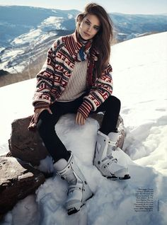visual optimism; fashion editorials, shows, campaigns & more!: let it snow: emily didonato by benny horne for vogue australia june 2014