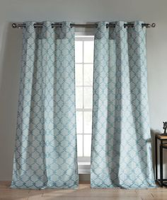 Look what I found on #zulily! Teal Kenilworth Curtain Panel - Set of Two #zulilyfinds