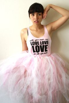 All You Need Is Love LARGE Racerback Tank in Pink by neenacreates, $23.00