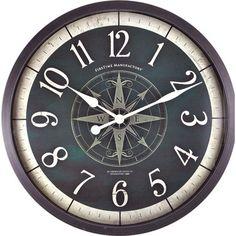 "FirsTime 24.5"" Compass Rose Wall Clock"